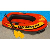Лодка надувная двухместная Explorer 200 Set Intex