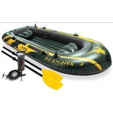 Лодка надувная трехместная INTEX Seahawk 3