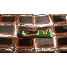 Ремкомплект для резиновых лодок, камер, сапог (12 латок)